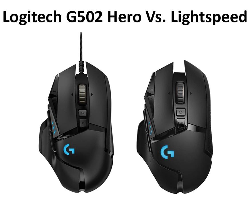 Logitech G502 Hero Vs Lightspeed Muoses Com